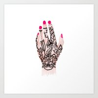 Modern Watercolor Hand  … Art Print