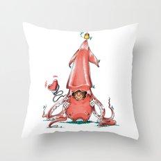 Calamar Prince Throw Pillow