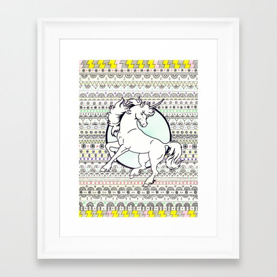 Unicorn Party Framed Art Print