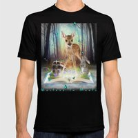 Believe In Magic • (Bambi Forest Friends Come to Life) Mens Fitted Tee Black SMALL