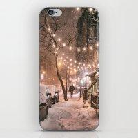 Snow - New York City - East Village iPhone & iPod Skin