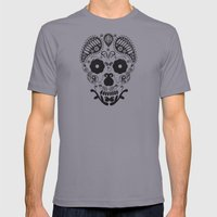 Skull Decorative  Mens Fitted Tee Slate SMALL