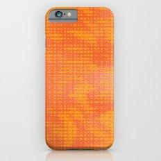 Orange Spirograph Slim Case iPhone 6s