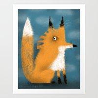 FOX SIGHTING Art Print