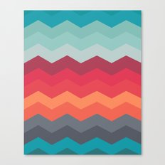 Color strips pattern Canvas Print