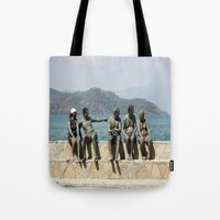 People Taking A Mudbath … Tote Bag