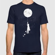 Midnight Traveler Mens Fitted Tee Navy SMALL