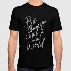 Be the Change Black SMALL Mens Fitted Tee