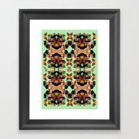 Panther Pattern  Framed Art Print