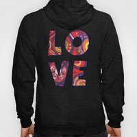 Red Square Abstract Painting Hoody
