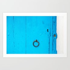 behind the door Art Print