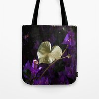 A Heart of Gold Leaf of Morning Glory Tote Bag