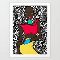 Colors of Africa Art Print