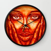 Look At Me /red/ Wall Clock