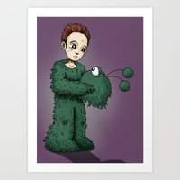 Man in the Monster RonkyTonk Art Print