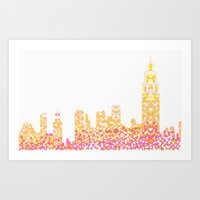 Sunrise Over NYC Art Print