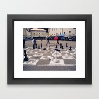 Check Mate (Austria) Framed Art Print