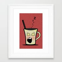 Sleepy Time Coffee  Framed Art Print