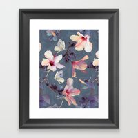 Butterflies And Hibiscus… Framed Art Print