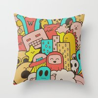 Doodleicious Throw Pillow