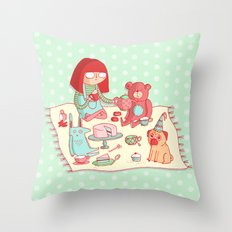 Tea party! Throw Pillow