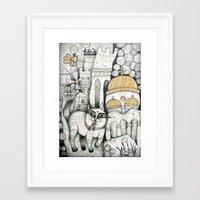 VILLAGES OF MY CHILDHOOD Framed Art Print