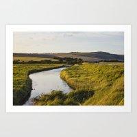 Cuckmere River Art Print