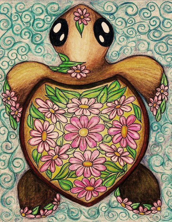 Daisy Do Baby Turtle Art Print