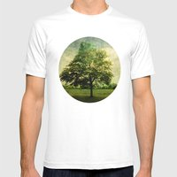 The Textured Tree  Mens Fitted Tee White SMALL