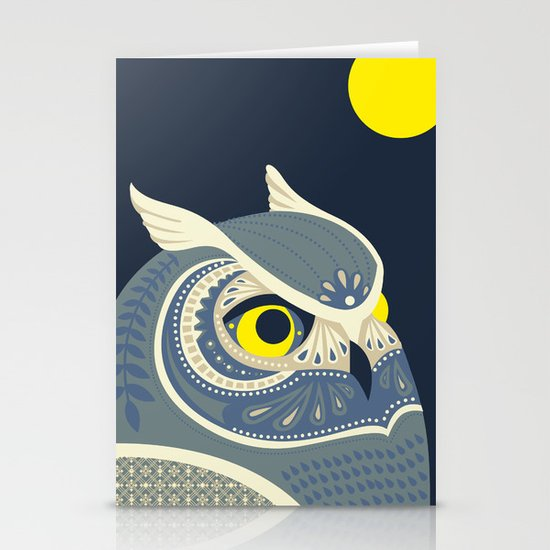 Night Owl Stationery Card