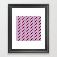 Blue And Black Chevron O… Framed Art Print