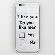 I like you iPhone & iPod Skin
