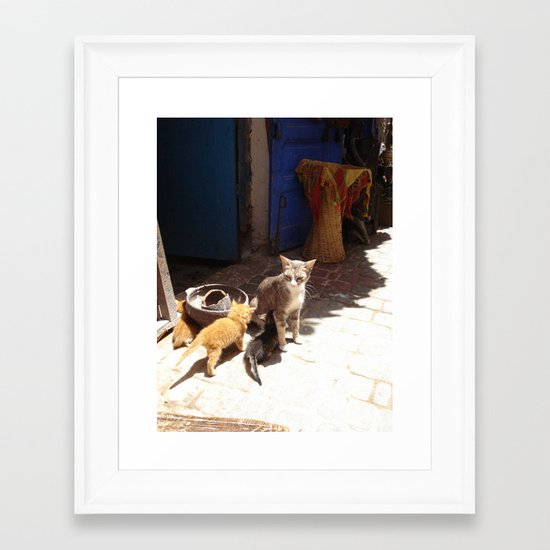 What´s the new, pussycat? Framed Art Print