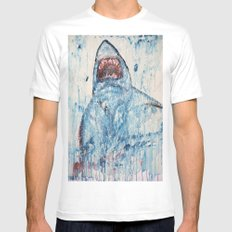 Shark SMALL Mens Fitted Tee White