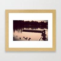 ducks. Framed Art Print