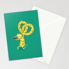 A Giraffe Photographer Stationery Cards