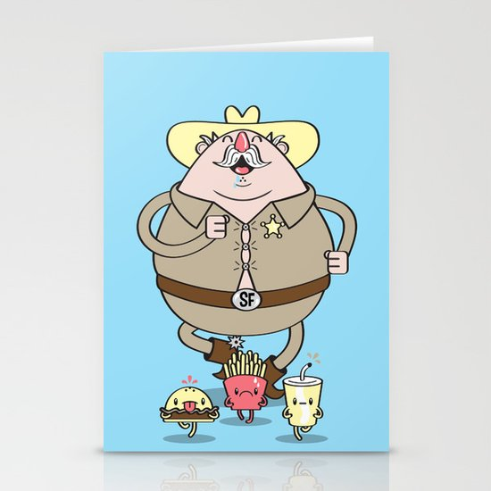 Sherif Fatman and Fast Food Stationery Card