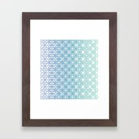Metamorph 001 | Blue Framed Art Print