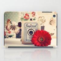 Retro Camera And Red Flo… iPad Case