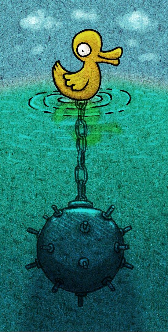 DuckBomb Art Print