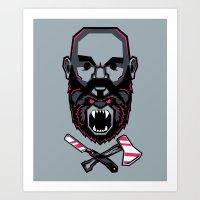 Wild BEARd Art Print