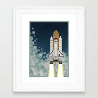 Space Shuttle Framed Art Print