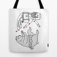 On the bear's uncontrollable urge to toss his master in the air Tote Bag