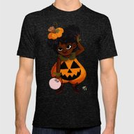 Jakie-O-Lantern Mens Fitted Tee Tri-Black SMALL