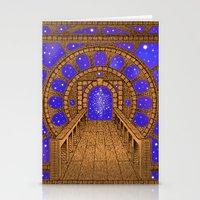 orvio illuminated space mandala Stationery Cards