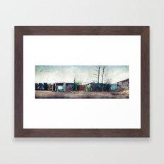 Junkyard Fence Framed Art Print