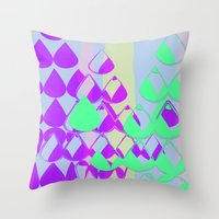 Drops Abstract  Throw Pillow