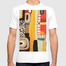 chemins Mens Fitted Tee White SMALL