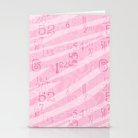 Zebra Print Numbers Stationery Cards