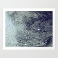 River Patterns Art Print